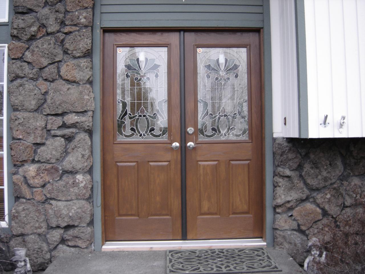 1st impressions more than doors double door entry - Wood and glass double entry doors ...