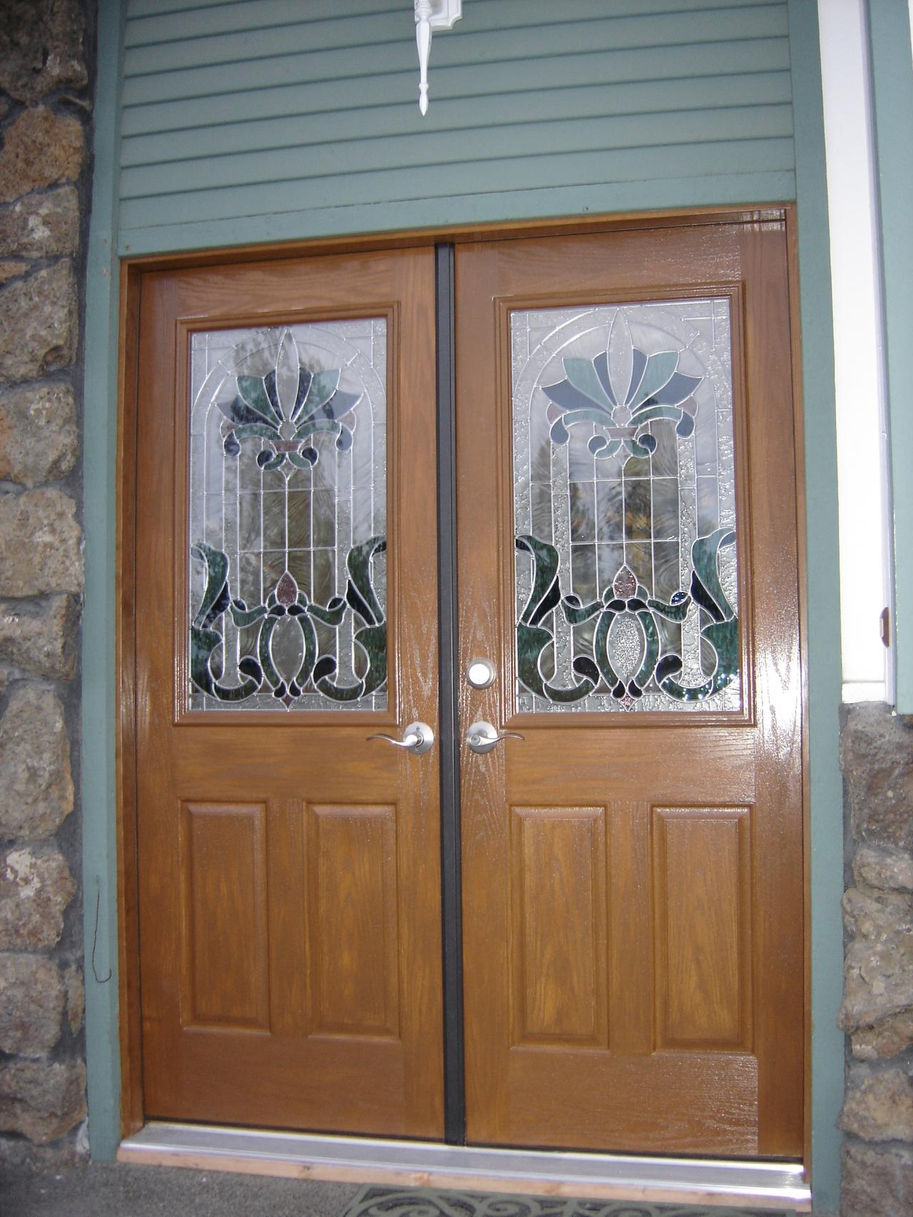 1706 #71492E 1st Impressions More Than Doors Double Door Entry wallpaper Masonite Fiberglass Exterior Doors 43651280